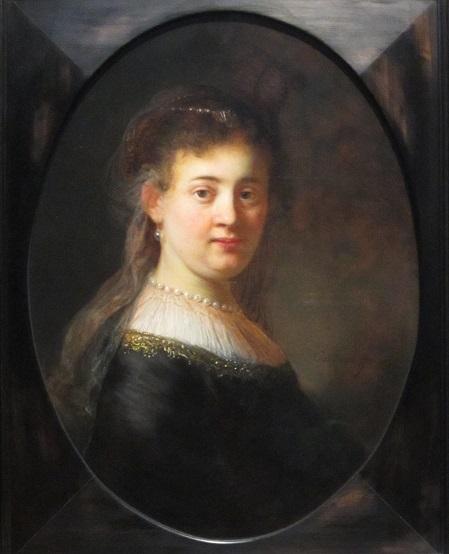 Focus van Rembrandt op Saskia zijn vrouw.