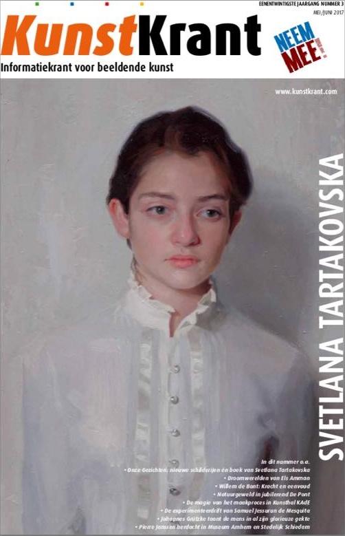SvetlanaTartakovska op cover van de Kunstkrant