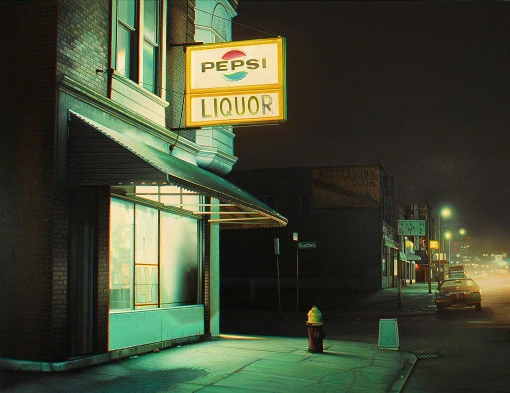 Robert Gniewek 'Scottin Inn' (2014) te zien op de expositie The American Dream