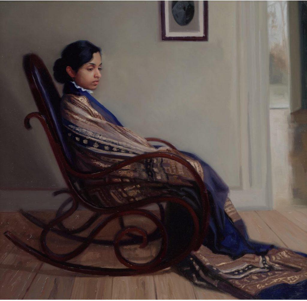 Dit schilderij van Svetlana Tartakovska is, met ander nieuw werk, vanaf 26 mei te zien bij Gallery 238 in Amsterdam..