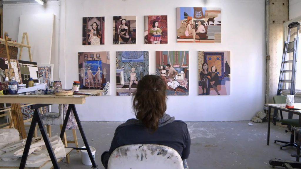 Helen Verhoeven in haar atelier