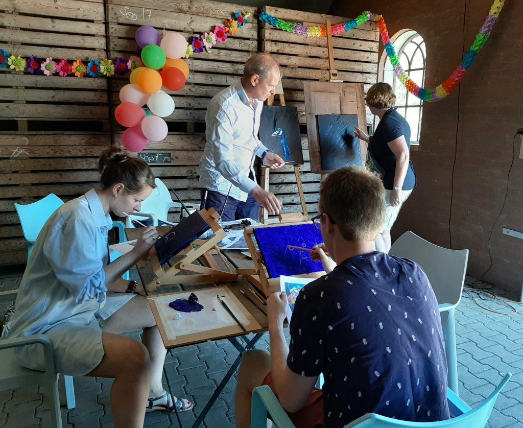 schilderworkshop voor familiefeest met OOK
