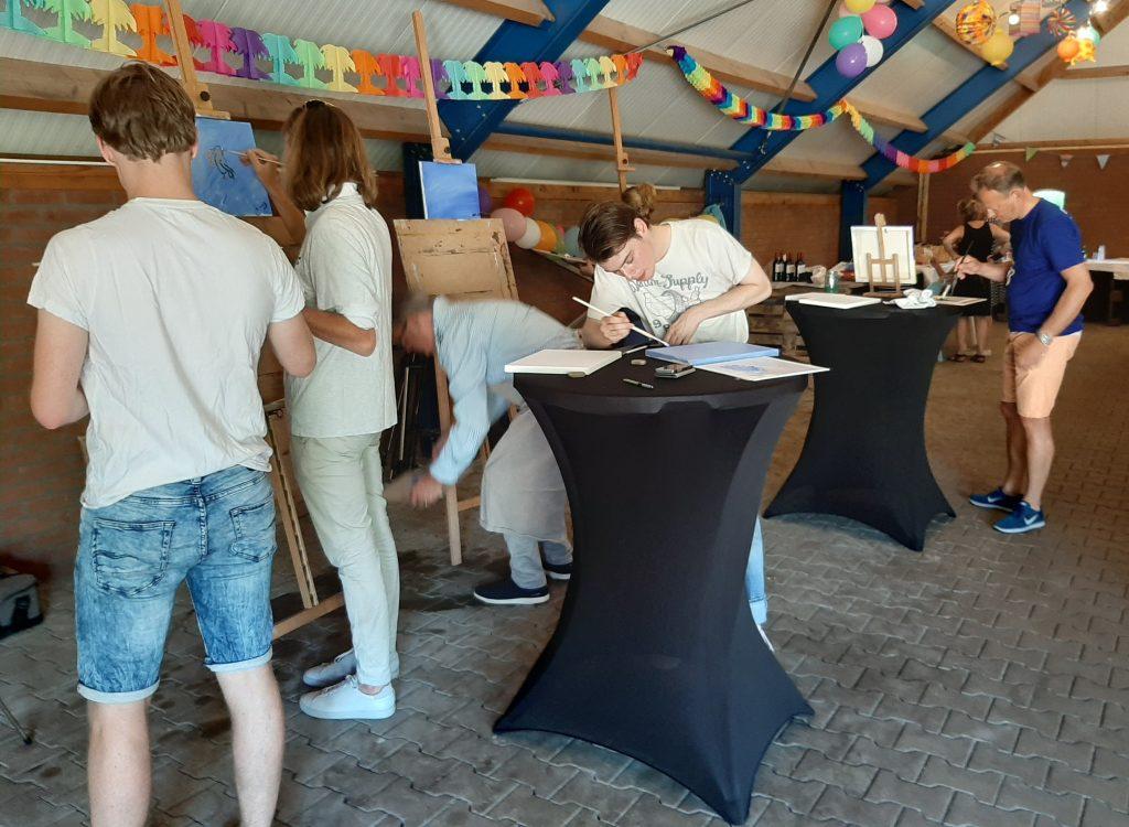 schilderworkshop voor familiefeest bij OOK