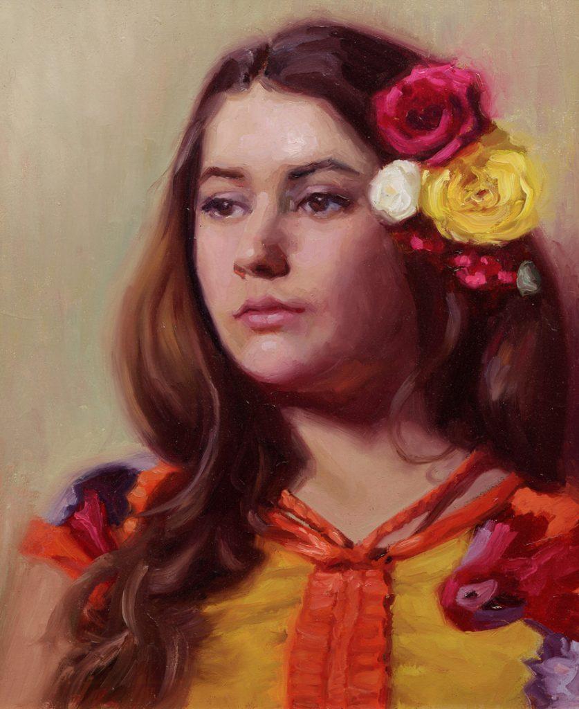 kleurrijk portret