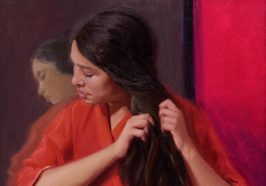 Kleurrijk portret Carolien van Olphen