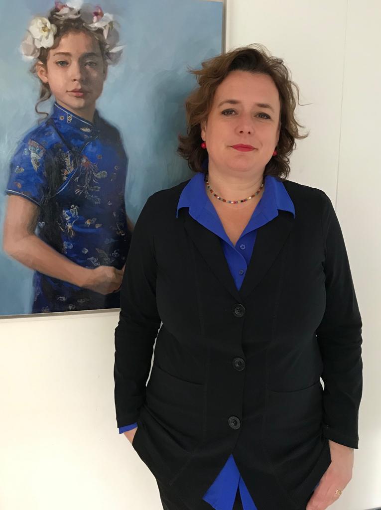 Carolien van Olphen geeft les bij Onderneming Op Kunstgebied